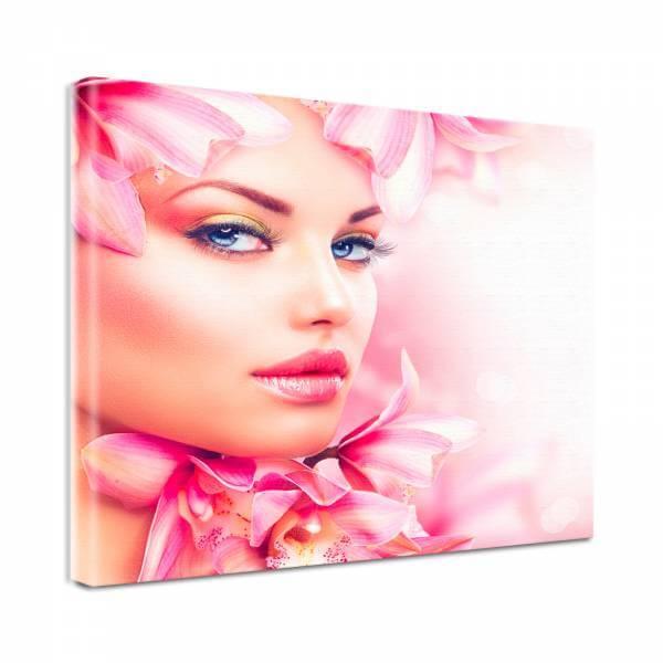 Leinwand Bild Natur & Blumen Beauty Spa 2 in rosa