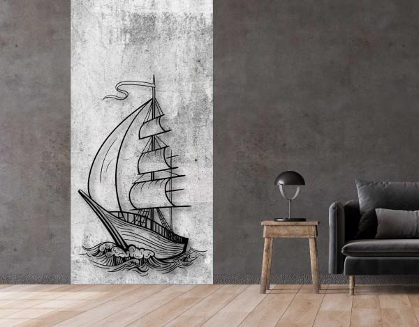 Vlies Tapete Betonoptik Poster Fototapete Tribal Segelschiff Meer