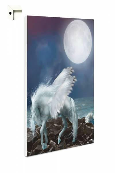 Magnettafel Pinnwand Weißes Einhorn im Mondschein