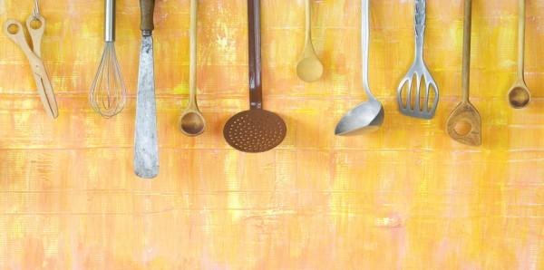 Magnettafel Pinnwand Bild XXL Panorama Küche Kochen Kochlöffel