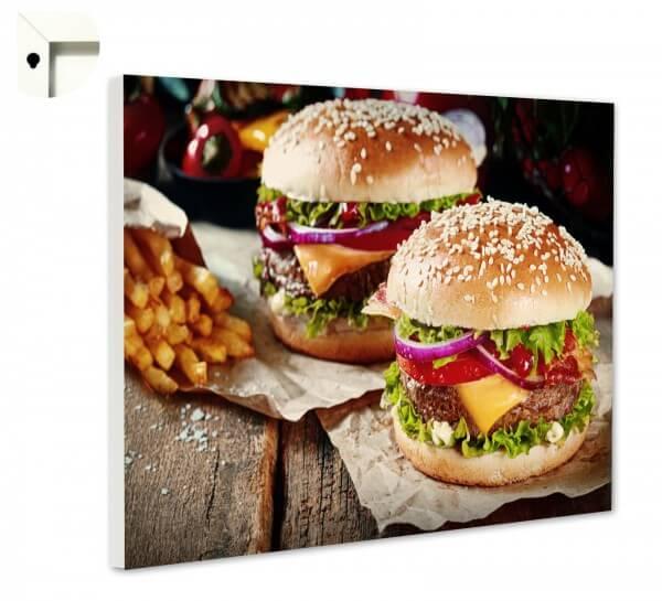 Magnettafel Pinnwand Küche Burger, Pommes & Co