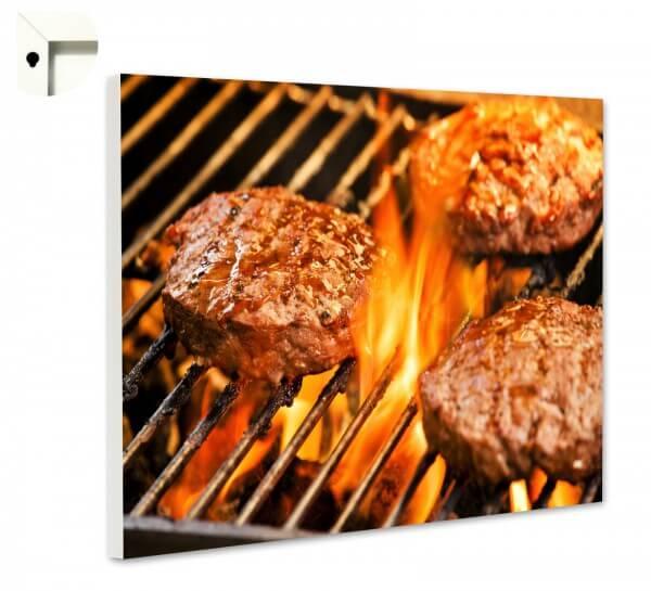Magnettafel Pinnwand Küche Burger grillen 2.0
