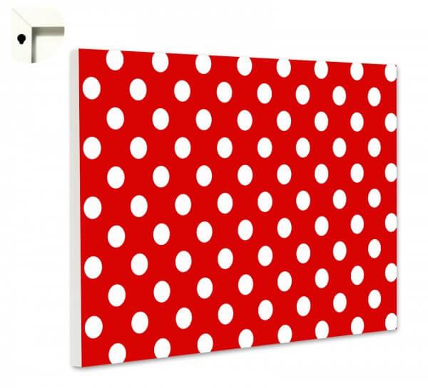 Magnettafel Pinnwand Polka Dot Punkte weiß rot