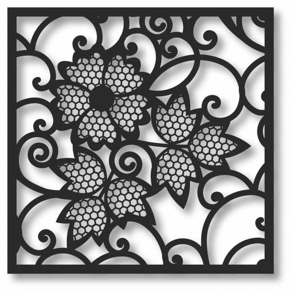 Bild Wandbild 3D Wandtattoo Acryl Mobile Netzmuster Blumen Romatik
