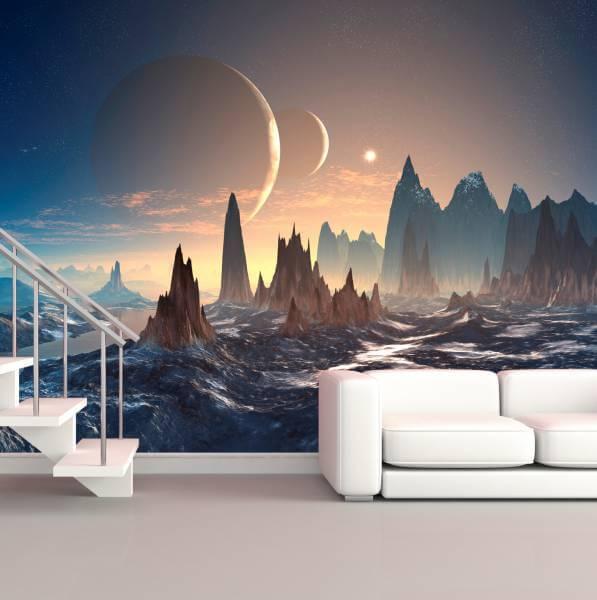 Poster Fototapete Fantasy Außerirdische Landschaft