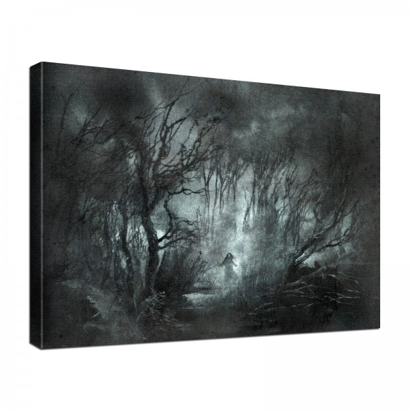 Leinwand Bild edel Gothic Fantasy Dark Night