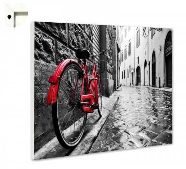 Magnettafel Pinnwand Damenrad Rad rot