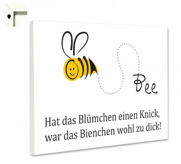 Magnettafel Pinnwand mit Spruch lustig Küche Biene