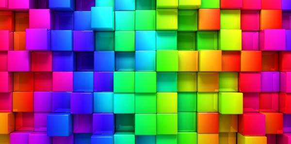 Magnettafel Pinnwand Bild XXL Panorama Würfel 3D bunt