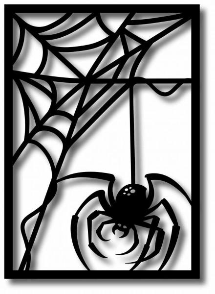 Bild Wandbild 3D Wandtattoo Acryl Mobile Spinne Netz Spinnennetz