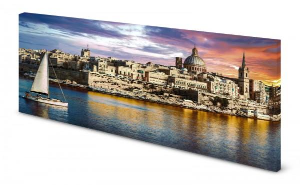 Magnettafel Pinnwand Bild Malta Valetta gekantet