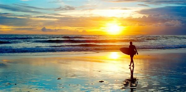 Magnettafel Pinnwand XXL Magnetbild Meer Surfen