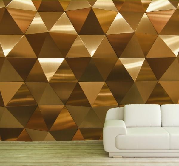 Vlies Tapete Poster XXL Fototapete 3D Effekt Muster Gold Metall