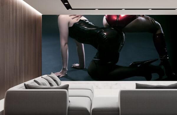Vlies Tapete XXL Poster Fototapete Panorama Erotik Domina Lack Leder