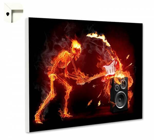 Magnettafel Pinnwand Flammen Skelett vs. Verstärker