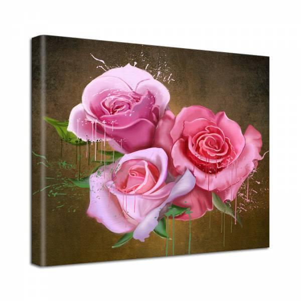 Leinwand Bild Natur & Blumen Rosen Blüten