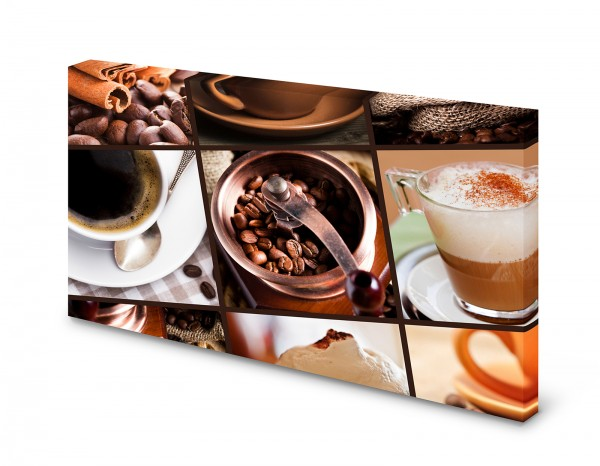Magnettafel Pinnwand Bild Kaffee Kaffeemühle Cafe XXL gekantet