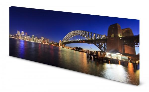 Magnettafel Pinnwand Bild Sydney Australien Skyline gekantet