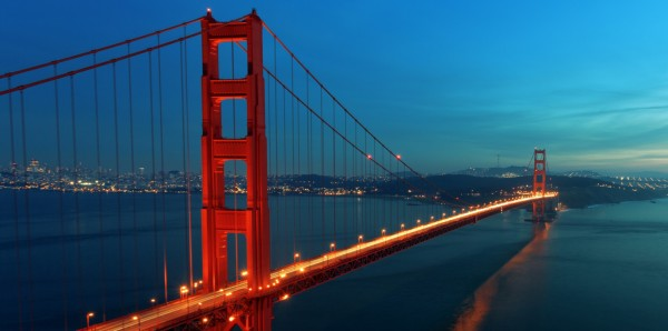 Magnettafel Pinnwand Bild XXL Panorama Golden Gate Bridge