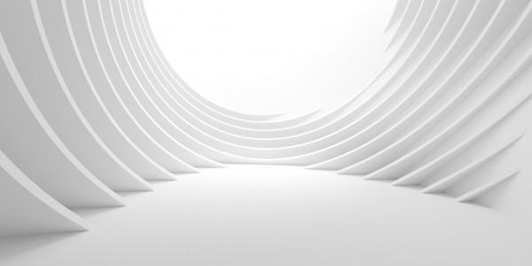 Vlies Tapete XXL Poster Fototapete 3D Effekt Raum Wellen weiss