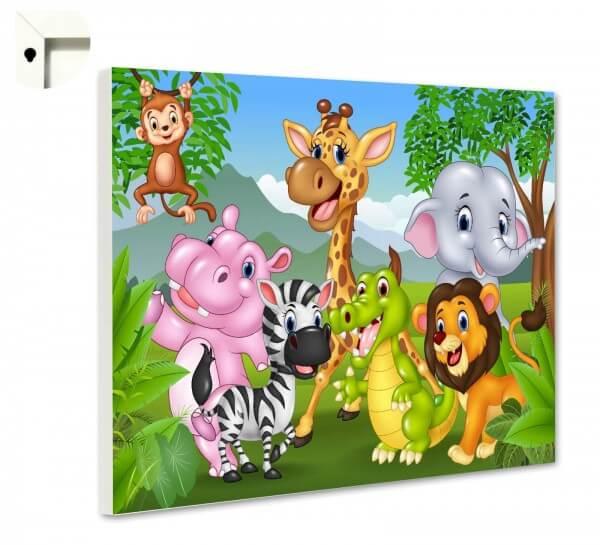 Magnettafel Pinnwand Tiere Kinder Zoo