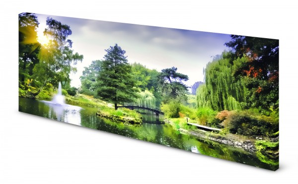 Magnettafel Pinnwand Bild Panorama Natur Japanischer Garten gekantet