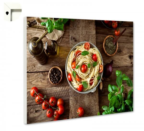 Magnettafel Pinnwand Küche Spaghetti Rustikal auf Holz