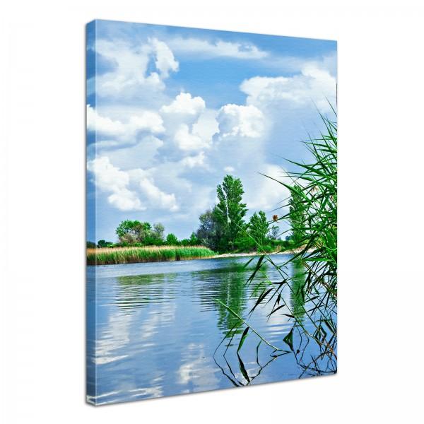 Leinwand Bild edel Natur See Landschaft