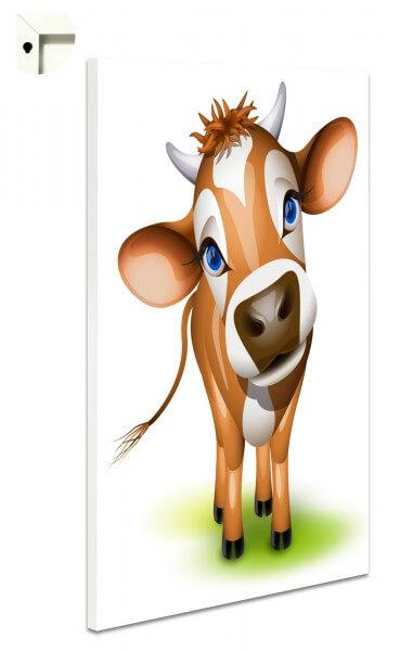 Magnettafel Pinnwand Kinder Kuh in braun Tiere