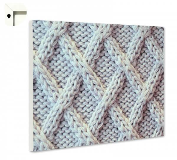 Magnettafel Pinnwand mit Motiv Strick Muster Wolle 5 | ...mehr ...