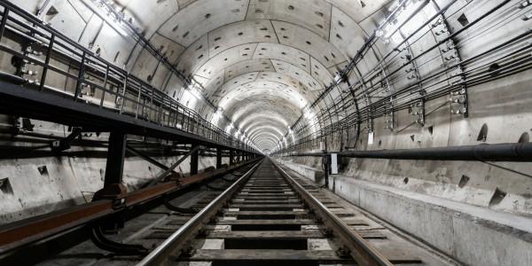 Magnettafel Pinnwand Bild XXL Panorama Tunnel Zugtunnel Röhre