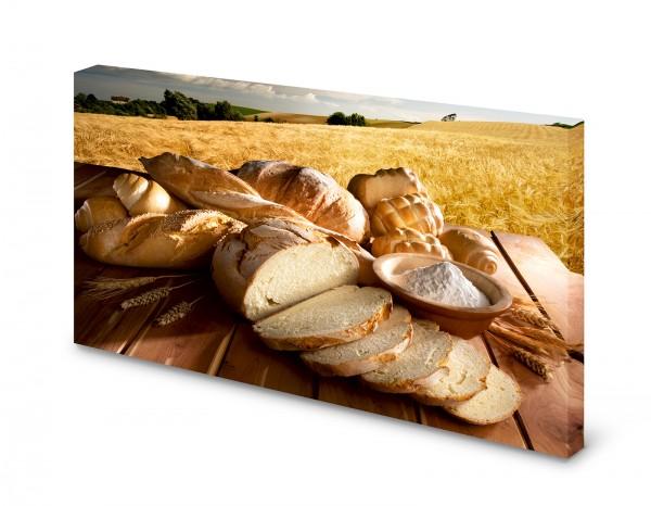 Magnettafel Pinnwand Bild Brot Weizen Weizenfeld