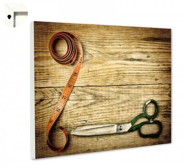 Magnettafel Pinnwand Holz Schneider Schere