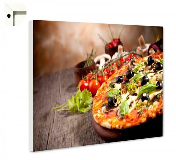 Magnettafel Pinnwand Küche Pizza mit Oliven