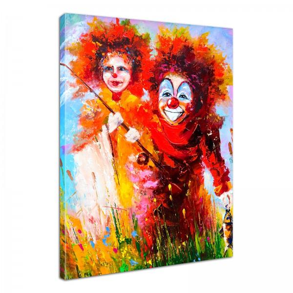 Leinwandbild Gemälde Clowns