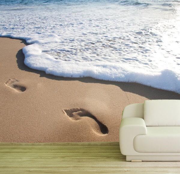 Poster Fototapete Spuren im Sand