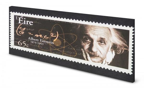 Magnettafel Pinnwand Bild Albert Einstein Briefmarke gekantet