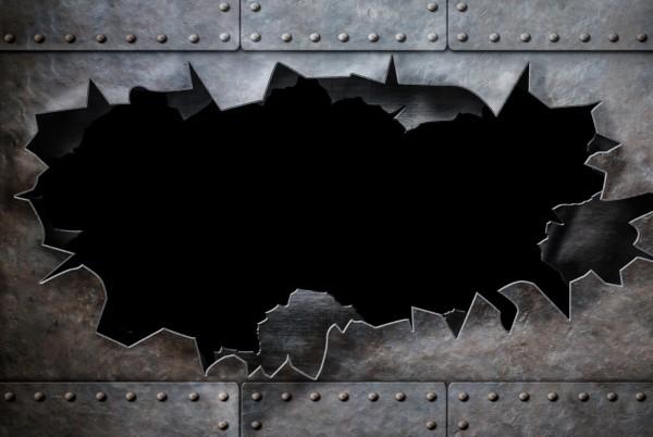 Magnettafel Pinnwand XXL Bild Metalloptik Metall zerfetzt