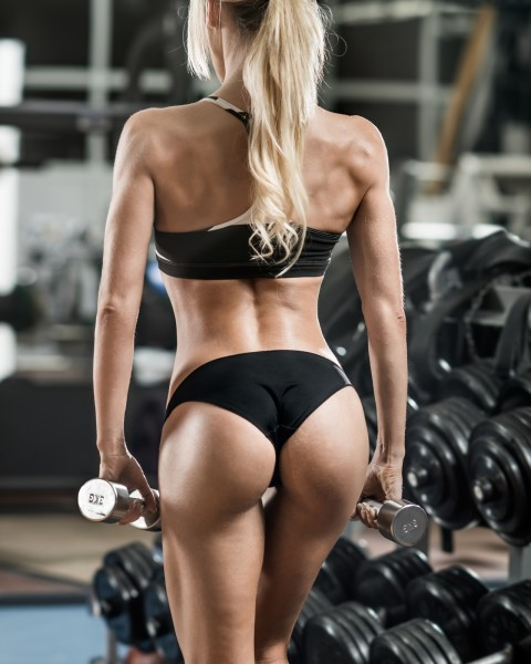 Vlies Tapete XXL Poster Fototapete Sport Fitness sexy Lady Po