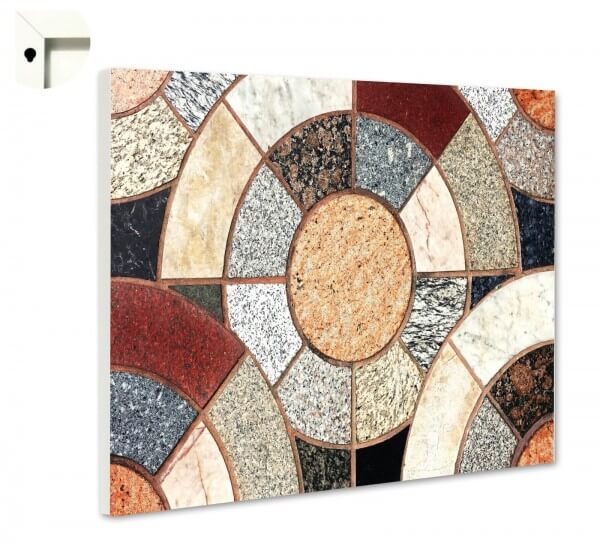 Magnettafel Pinnwand Muster Granit Mosaik bunt