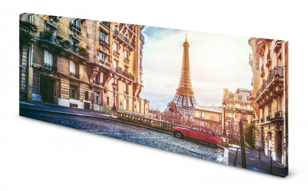 Magnettafel Pinnwand Bild Paris Eiffelturm Ente gekantet