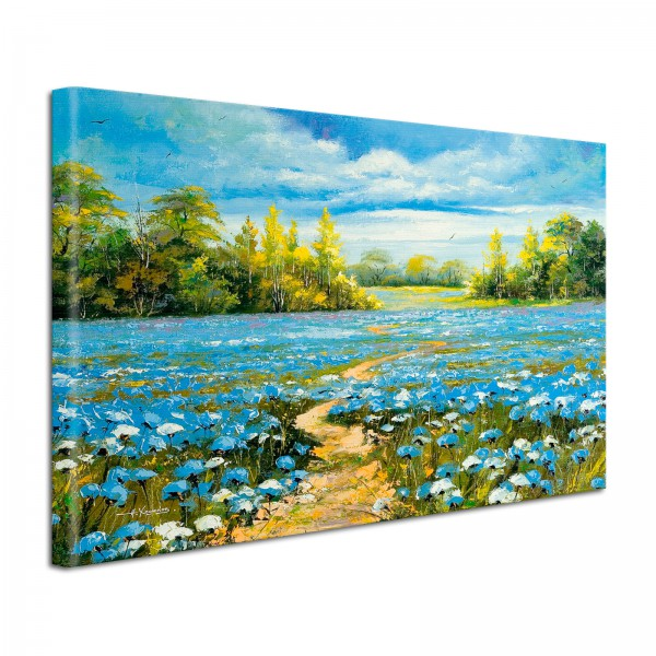 Leinwandbild Gemälde Blütenlandschaft