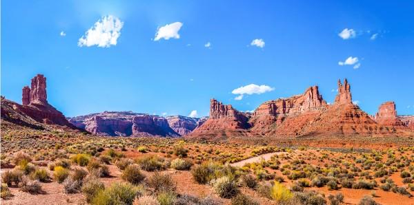 Magnettafel Pinnwand Bild XXL Panorama Wüste Landschaft Felsen