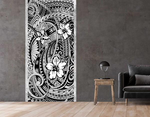 Vlies Tapete Betonoptik Poster Fototapete Tribal Flower Power Floral