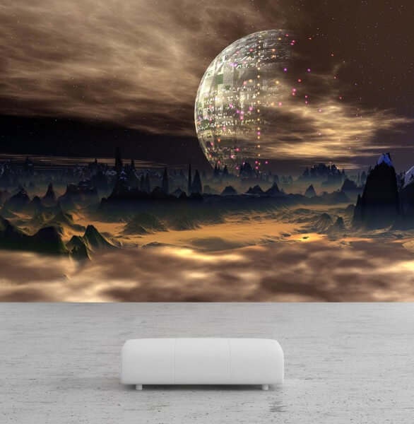 Vlies Tapete Poster Fototapete Science-Fiction Planet All Galaxie