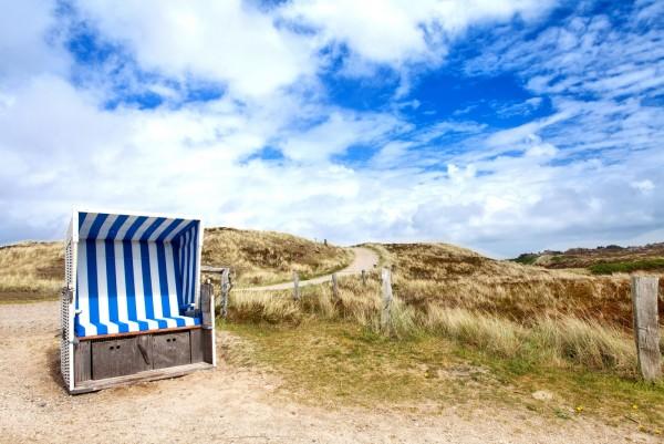 Magnettafel Pinnwand XXL Bild Strand Strandkorb Düne Meer