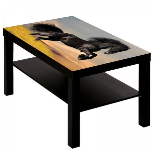 Couchtisch Tisch mit Motiv Tiere Pferd 1