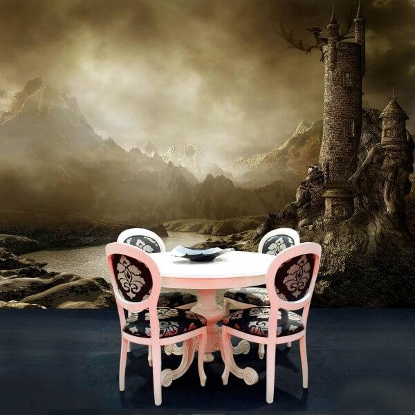 Vlies Tapete Poster Fototapete Fantasy Dunkler Turm