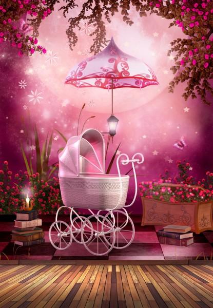 Vlies Tapete Poster Fototapete Fantasy Märchen rosa Baby