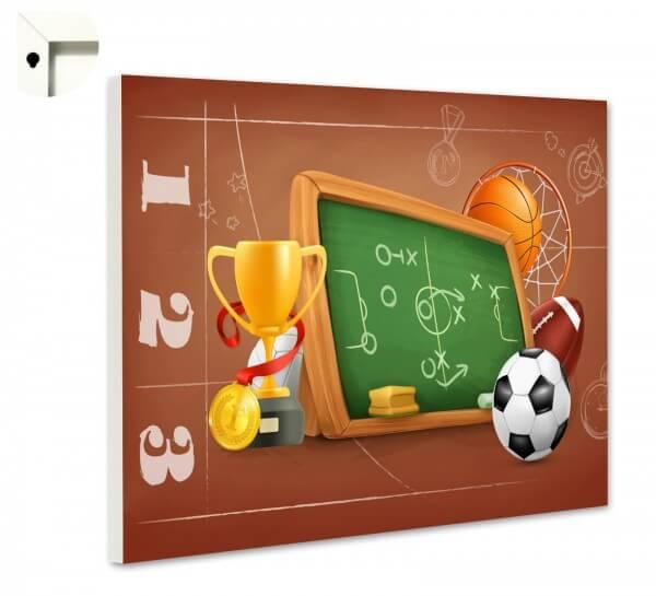Magnettafel Pinnwand Kinder Tafel & Fußball Schule